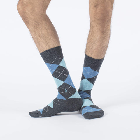 Socks to Give Clean Water Blue
