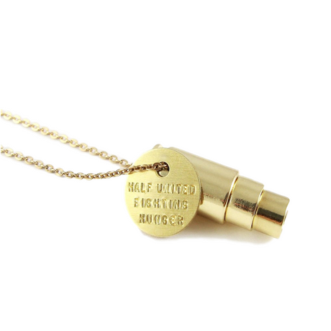 Fighting Hunger Bullet Necklace // Round Cable // HALF UNITED // Society B - Fair Trade Products and Gifts that Give Back