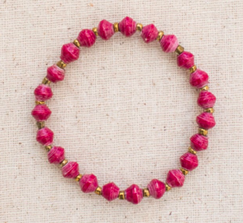 Daphne Bracelet // Wine // 31 Bits // Society B - Fair Trade Products and Gifts that Give Back - 2