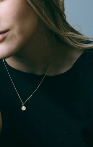 Druzy Petite Layering Necklace // White // FashionABLE // Society B - Fair Trade Products and Gifts that Give Back - 4