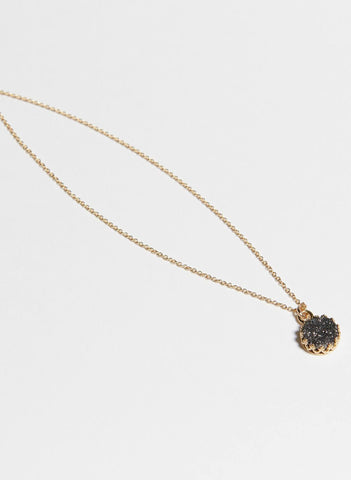 Druzy Petite Layering Necklace // Black // FashionABLE // Society B - Fair Trade Products and Gifts that Give Back - 3
