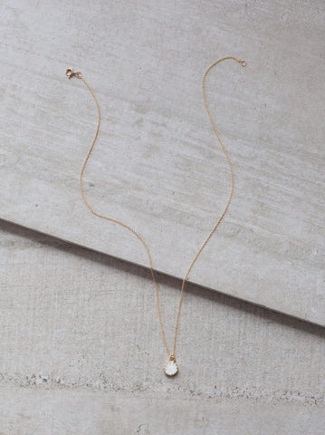 Druzy Petite Layering Necklace // White // FashionABLE // Society B - Fair Trade Products and Gifts that Give Back - 2
