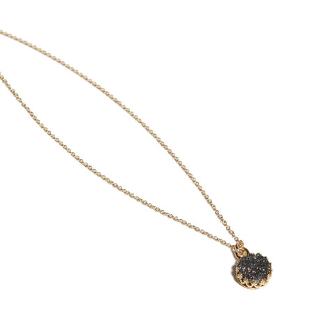Druzy Petite Layering Necklace // Black // FashionABLE // Society B - Fair Trade Products and Gifts that Give Back - 1