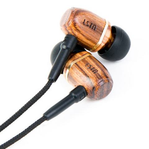 Bowery Earbuds with Mic // Zebra // LSTN // Society B - Fair Trade Products and Gifts that Give Back - 1