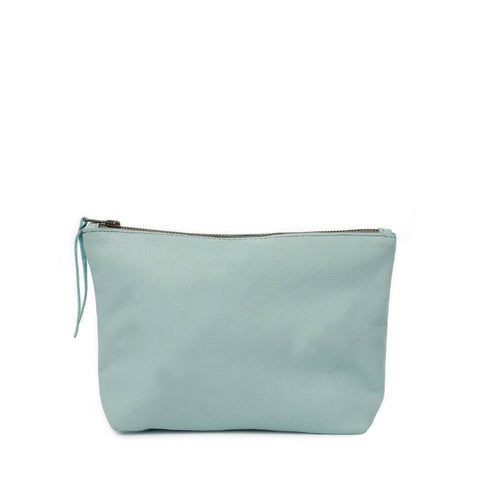 Pebbled Emnet Pouch // Jade Mist