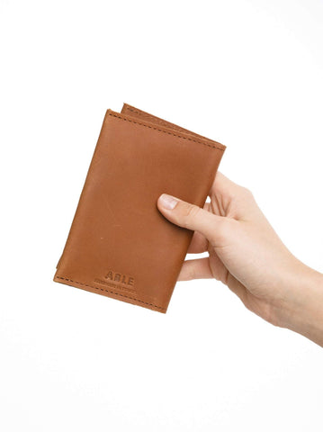 Alem Passport Wallet // Cognac