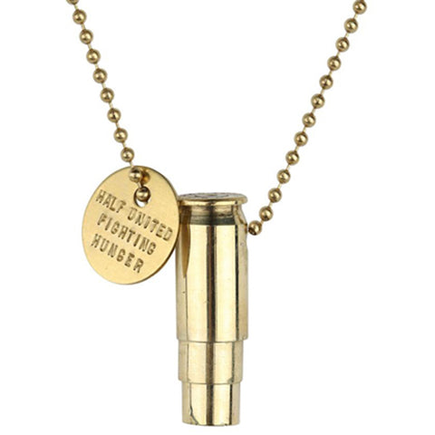 Classic - Fighting Hunger Necklace // Gold // HALF UNITED // Society B - Fair Trade Products and Gifts that Give Back - 1
