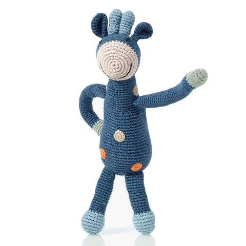 Organic Giraffe Rattle // Blue // Pebble // Society B - Fair Trade Products and Gifts that Give Back - 1