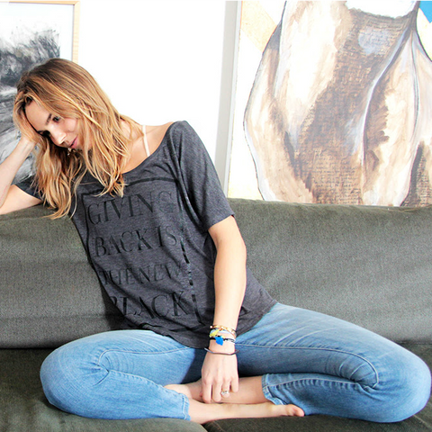 Giving Back Dolman T-shirt // Charcoal Gray // HALF UNITED // Society B - Fair Trade Products and Gifts that Give Back - 3