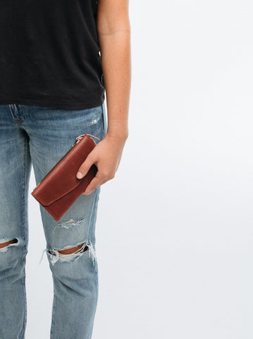 Hailu Wallet // Burgundy and Dusty Rose