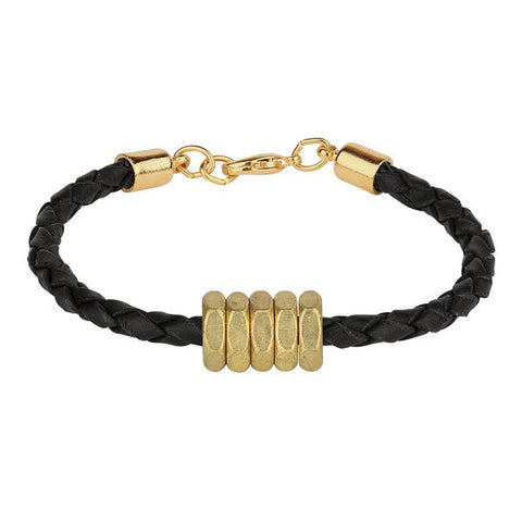 Honeybee Bracelet // Black // HALF UNITED // Society B - Fair Trade Products and Gifts that Give Back - 1