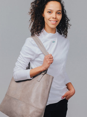Mamuye Tote // Pewter // FashionABLE // Society B - Fair Trade Products and Gifts that Give Back - 2