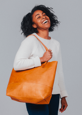 Mamuye Tote // Cognac // FashionABLE // Society B - Fair Trade Products and Gifts that Give Back - 4