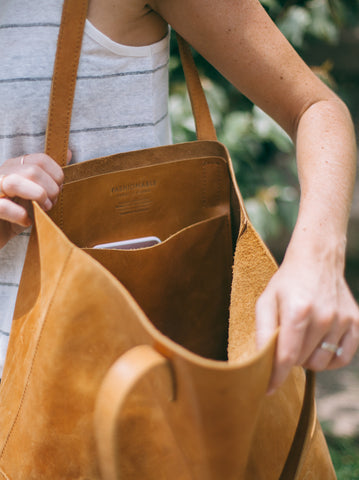 Mamuye Tote // Cognac // FashionABLE // Society B - Fair Trade Products and Gifts that Give Back - 2