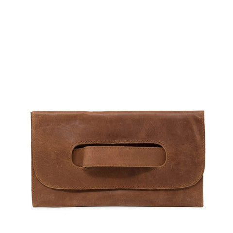 Mare Handle Clutch // Chestnut