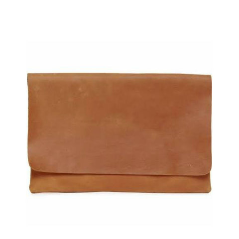 Mare Zip Clutch // Chestnut