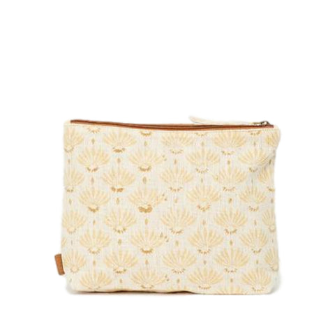 Meena Large Pouch // Ivory Dandelion