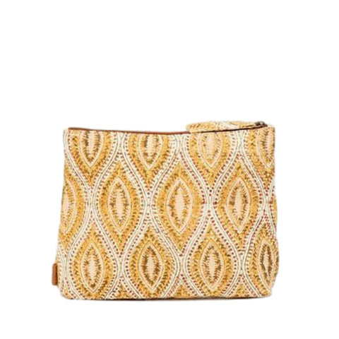 Meena Large Pouch // Yellow Batik