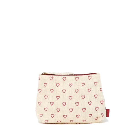 Meena Small Pouch // Hearts