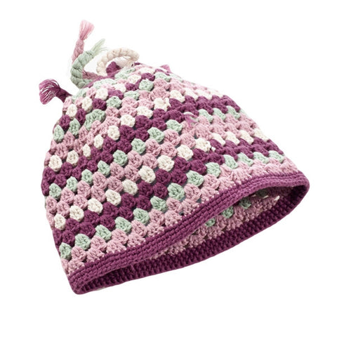 Organic Crochet Baby Hat // Purple // Pebble // Society B - Fair Trade Products and Gifts that Give Back