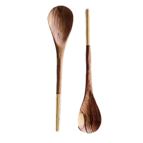 Shaba Utensil Set // Brass