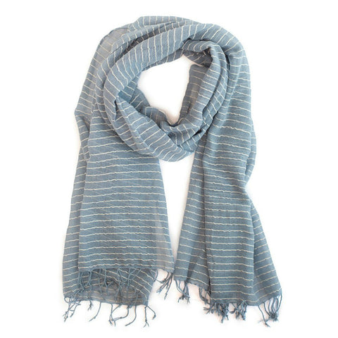 Shegaw Scarf // Blue // FashionABLE // Society B - Fair Trade Products and Gifts that Give Back