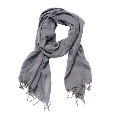 Shegaw Scarf // Denim // FashionABLE // Society B - Fair Trade Products and Gifts that Give Back - 1