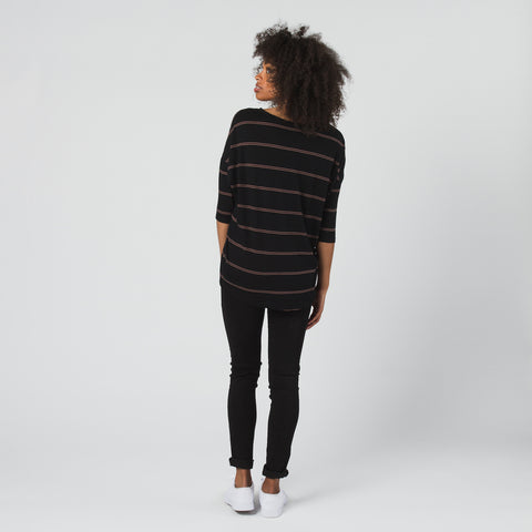 Sloan Top // Nutmeg & Black