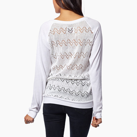 Knit Lace Long Sleeve // White // Krochet Kids // Society B - Fair Trade Products and Gifts that Give Back - 2