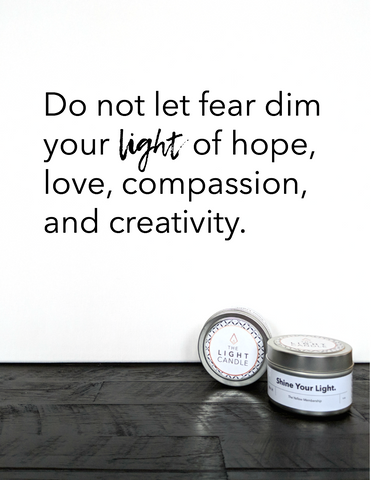 Shine Your Light Candle