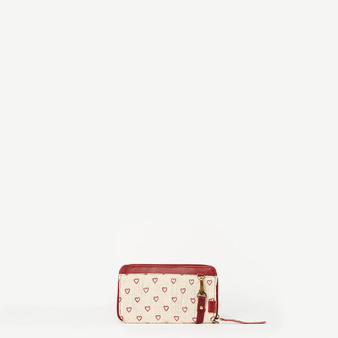 Latika Cross Body Wristlet // Hearts