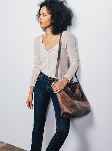 Abera Crossbody Tote // Chocolate // FashionABLE // Society B - Fair Trade Products and Gifts that Give Back - 2