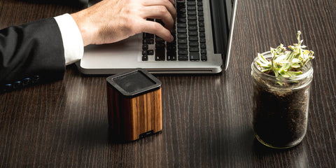 Satellite Bluetooth Speaker // Zebra Wood // LSTN // Society B - Fair Trade Products and Gifts that Give Back - 3