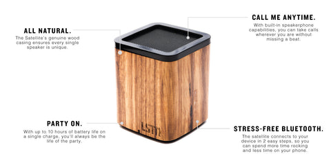 Satellite Bluetooth Speaker // Zebra Wood // LSTN // Society B - Fair Trade Products and Gifts that Give Back - 2