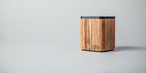 Satellite Bluetooth Speaker // Zebra Wood // LSTN // Society B - Fair Trade Products and Gifts that Give Back - 6