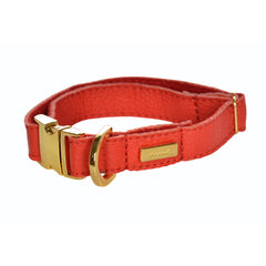 Dog Collar in Soft Flirt Leather with Wool felt - lurril