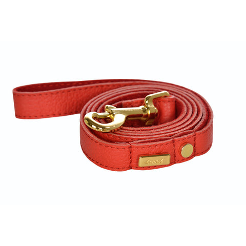 Dog Leash in Soft Flirt Leather with Wool felt - lurril