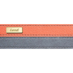 Dog Leash in Soft Mandarin Leather with Wool felt - lurril