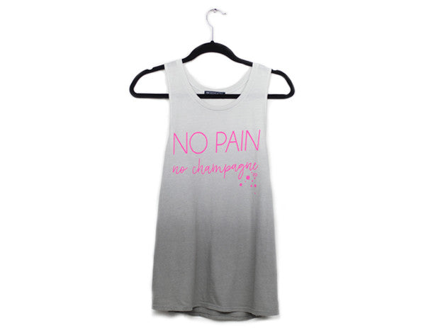 No Pain, No Champagne Muscle Tank
