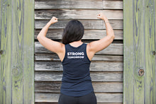 Barre Today, Strong Tomorrow V-Neck | Barre Tanks, backside