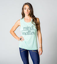 Mind Over Matter Muscle Tank Mint on Model