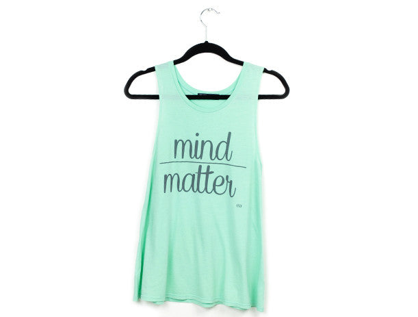 Mind Over Matter Muscle Tank Mint