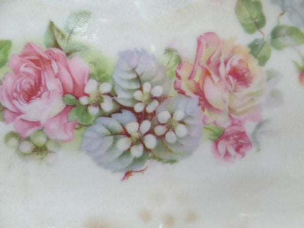 Antique Barvarian Porcelain Oval Floral China Dish-Duckwells