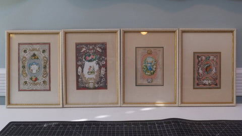 Antique Victorian Valentines - Framed Set of 4-Duckwells