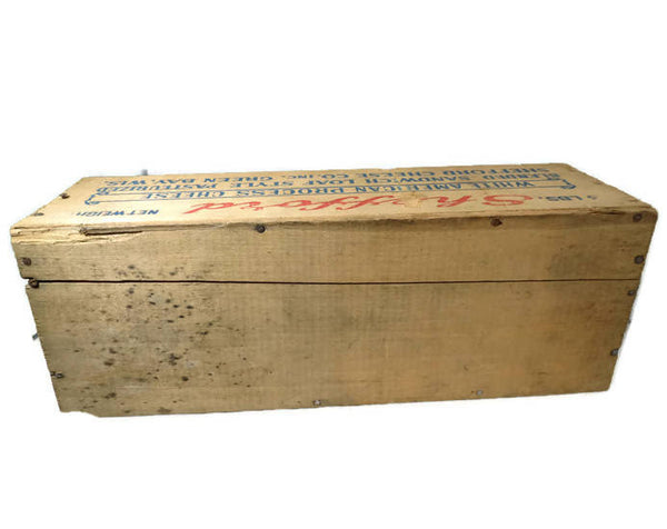 Wooden Shefford Cheese Box