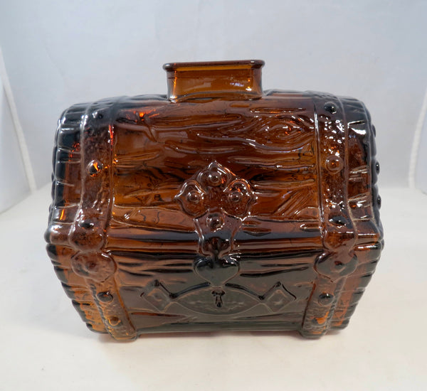 Vintage Glass Treasure Chest Coin Bank - [vintage and antiques], Duckwells
