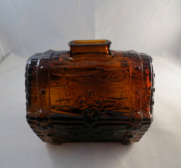 Vintage Glass Treasure Chest Coin Bank - Duckwells