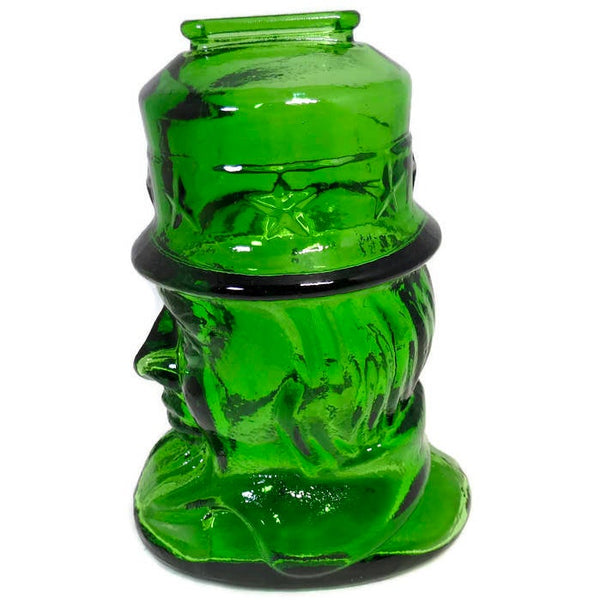 Vintage  Uncle Sam Glass Coin Bank - [vintage and antiques], Duckwells