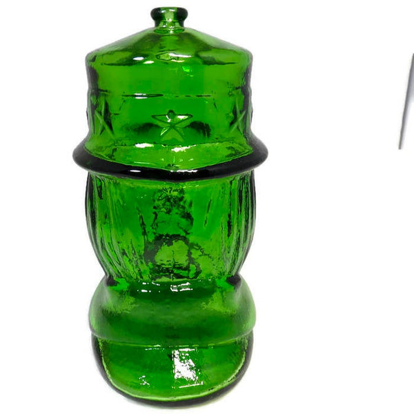 Vintage  Uncle Sam Glass Coin Bank - Duckwells