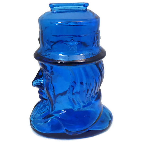 Vintage Wheaton Glass Uncle Sam Bank